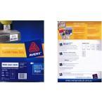 AVERY L7063 WHITE LASER LABELS, 25 SHEETS