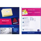AVERY L7651 LASER ADDRESSING MAILING LABELS, 100 SHEETS